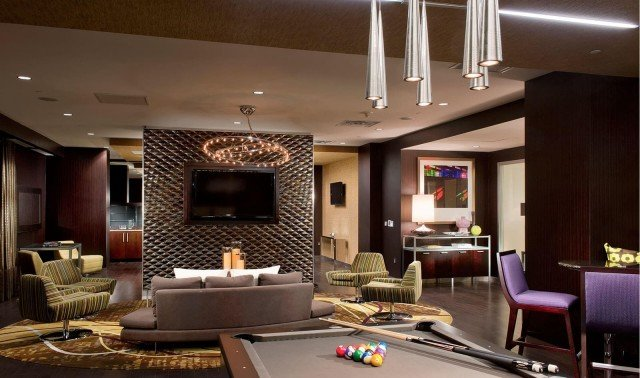 slide image Take in your favorite show or challenge your neighbor to a game of pool in our posh Clubroom.