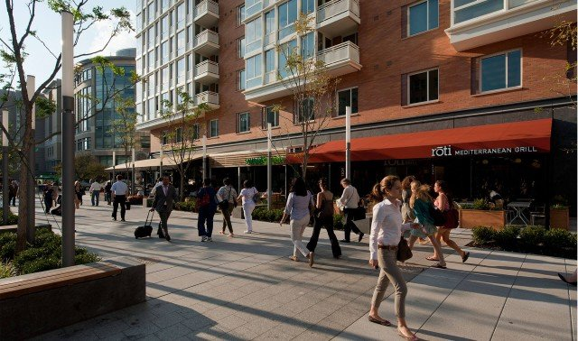 slide image The bustling Avenue on a warm spring day.