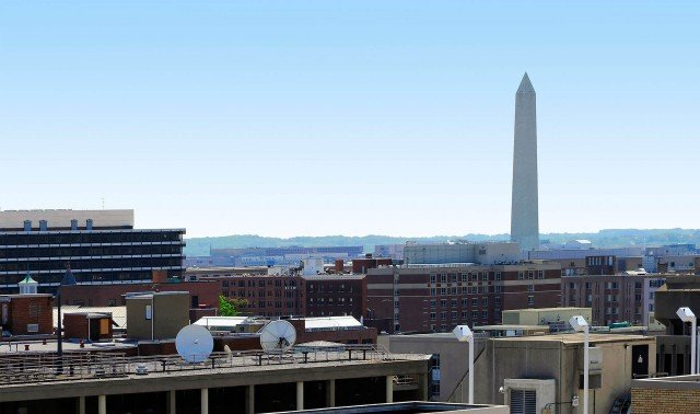slide image Looking southeast to the Washington Monument.