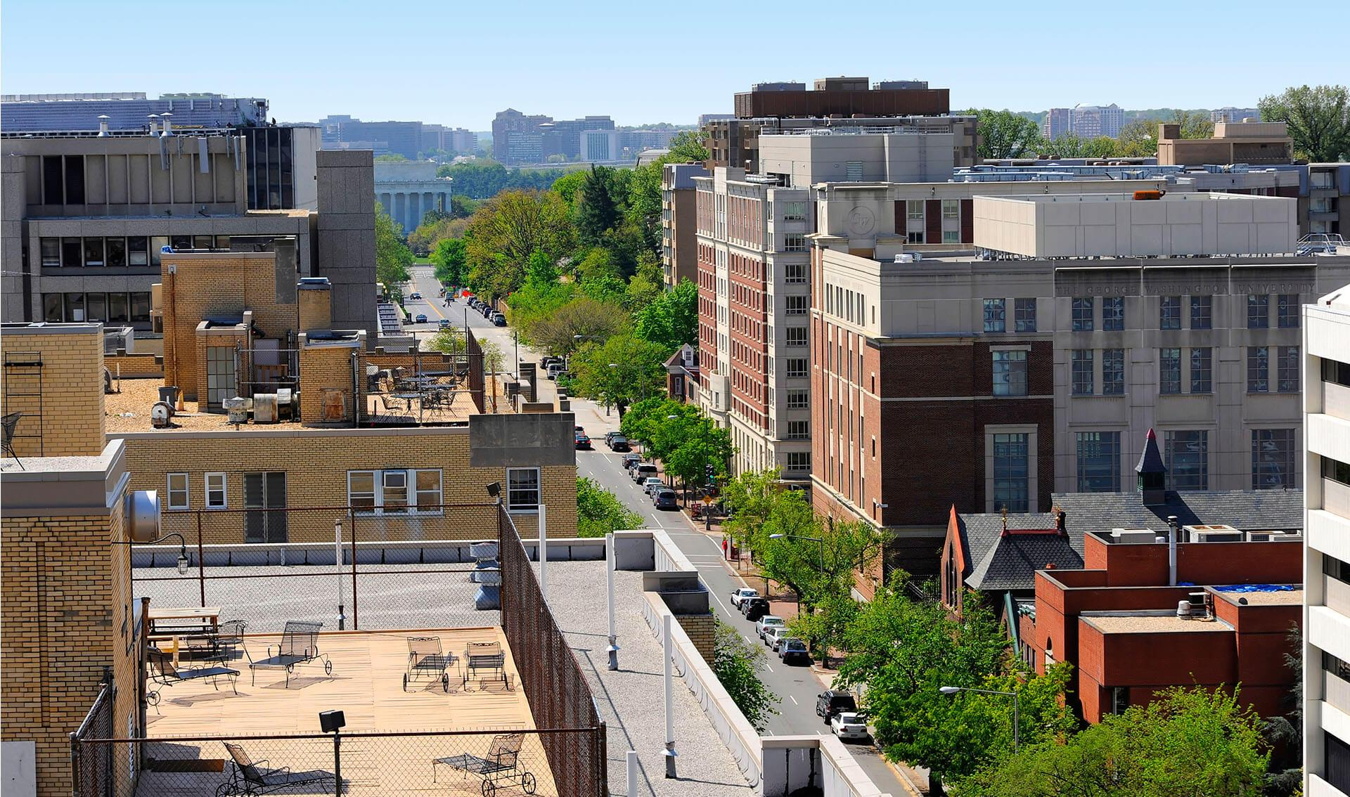 slide image The Avenue from the rooftop.