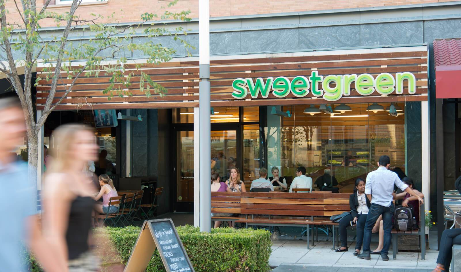 slide image Feed your salad cravings at our on-site Sweetgreen.