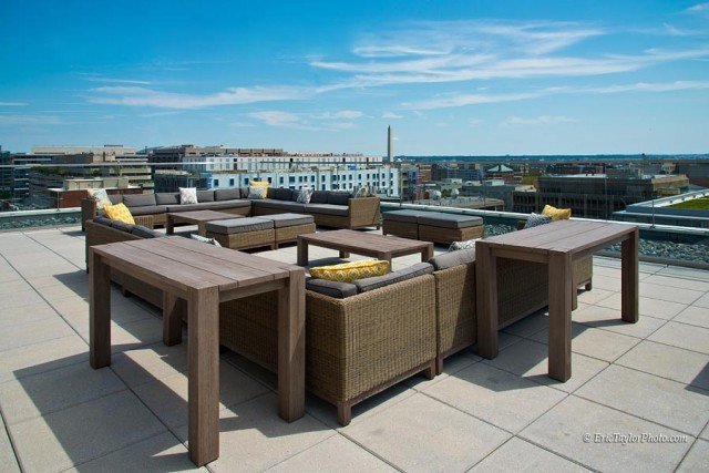 slide image Take in the breathtaking views from one of our many rooftop seating areas.